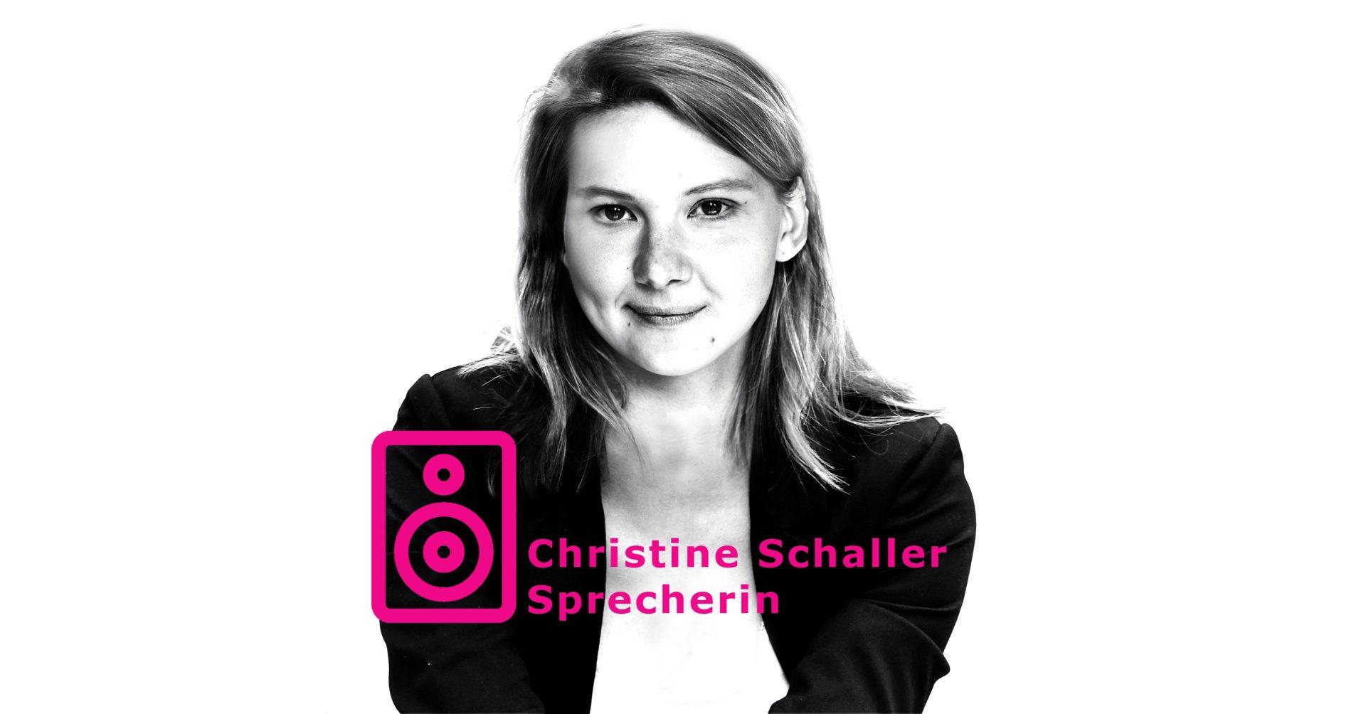 Christine Schaller Sprecherin